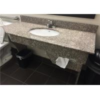 """China G664 Bainbrook Brown Granite Vanity Tops 49"""" With Apron And Tissue Hole wholesale"""
