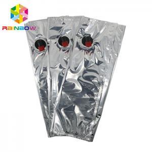China 10L BiB Aluminum Foil Wine Stand Up Pouch Spout / Valve Storage Bag FDA Certificated wholesale