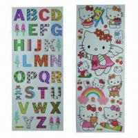China Alphabet Wall Sticker, Customized Designs are Welcome, Used for Children Entertainment wholesale