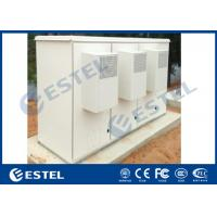 China Three Compartments Galvanized Steel Outdoor Base Station Including Mounting Rack wholesale