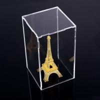 China Square Counter Acrylic Display , Case Plastic Stand Clear Storage Box Jars With Lids wholesale
