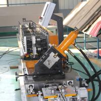 China Ceiling T Grid Light Keel Roll Forming Machine With 1.2 Inch Chain Drive wholesale