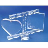 China High Plastic Insulated Acrylic Photo Frames With Magnet , Heart Shape wholesale
