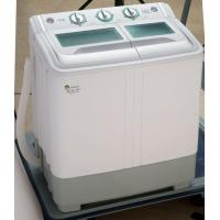 China Copper Motor Twin Tub Washing Machine 5.5 Kg Top Load With Plastic Lid Dark Grey wholesale
