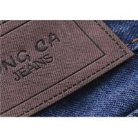 China Logo Printable Embossed Leather Patches With  Leather Clothing Labels wholesale