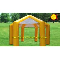 China Waterproof Yellow PVC Inflatable Tent / Inflatable Umbrella Tent For Promotion Party wholesale