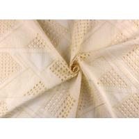 China Allover Embroidered Eyelet Cotton Lace Fabric For Wedding Dresses With Hollowed Circle wholesale