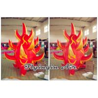 Customized 2m Height Red Inflatable Fire for Stage Decoration
