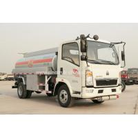 China Howo 4×2 Oil Tanker Lorry / High Safety Light Duty Fuel Transport Trucks 8280 KGS wholesale
