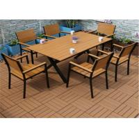 Buy cheap Leisure Wood Plastic Composite Outdoor Furniture Slats Anti - Corrosion from wholesalers