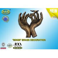 China No. BD029 Brass Hands Tombstone Decoration Bronze Funeral Accessories Size 17.5*10 Cm Copper Alloy wholesale