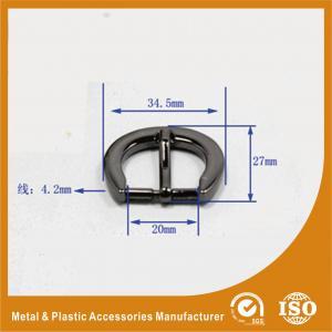 China Thick Flat Wire Buckle 34.5X27X20MM Metal Zinc Bag Buckle / Handbag accessory wholesale