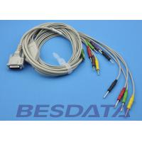 China DB - 15 Connector ECG Patient Cable , 10 Lead ECG Cable IEC Needle With CE wholesale