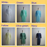 China Non Woven Disposable Operating Gowns Multicolor With Long Sleeves wholesale