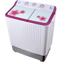 China Colorful Twin Tub Semi Automatic Washing Machine 7kg  With Plastic Body Tempered Glass wholesale