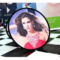 China Small Round Trade Show Banners Stand For Indoor Display 100*100cm wholesale