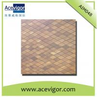 China Wood mosaic wall tiles with rhombic shape wholesale