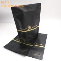 China Laminated Material Plastic Pouches Packaging , Stand Up Zipper Pouch With One - Way Valve wholesale