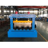 China 0.8 - 1.2mm Thickness floor decking forming machine Chain Drive wholesale