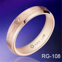 China Hot sales hand engraving&rose gold plated TUNGSTEN WEDDING RINGS fashion mens rings wedding bands on sale