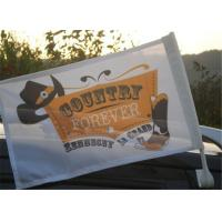 China Outdoor Automotive Car Advertising Flag Banners With Pvc Plastic Pole wholesale