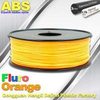 China Eco Friendly ABS 3D Printer Filament 1.75mm Fluro Orange 3D Printing Filament wholesale