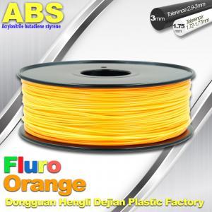 China Eco Friendly ABS 3D Printer Filament 1.75mm Fluro Orange 3D Printing Filament wholesale