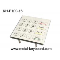 Buy cheap 16 Keys 4X4 Matrix Metal Keypad Laser Engraved Characters For Access Control System from wholesalers