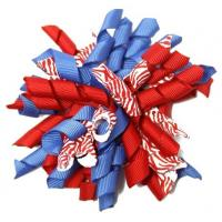"""Quality Colorful 4.5"""" Grosgrain with dot Curly Ribbon bow for Korker Hair Bow Clips for sale"""