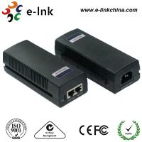 China 48 Volt 2 Port Cisco POE Power Over Ethernet Injector 10 / 100 / 1000Mbps 15.4W wholesale