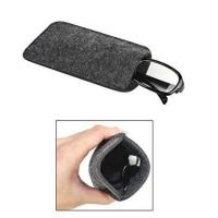 China Dark Grey Ladies Soft Sunglass Case With A Plush Styrene Interior wholesale