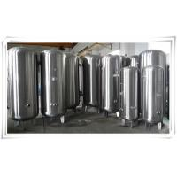 China Stainless Steel Air Compressor Receiver Tank 60 Gallon / 80 Gallon / 100 Gallon wholesale