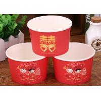 China Red Wedding Insulated Disposable Soup Bowls Eco Freindly Materials wholesale