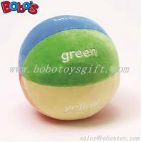 "China 5.9""Soft Colorful Plush Baby Ball Toy Baby Educational Rattle Toy wholesale"