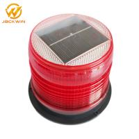 China Red Amber Flashing Marine Solar Warning Light Magnet Base Waterproof IP68 wholesale