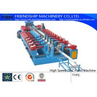 China Gearbox Driven C Z Purlin Roll Forming Machine Use Hydraulic Pre Punching 3mm Thickness wholesale