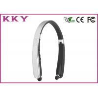 China Foldable Neckband Bluetooth Headphone CSR CVC Noise Reduction Headphone for Mobile Phone wholesale