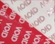 China Red Matt Stock Tamper Evident Security Labels Without Printing In Rolls Packing on sale