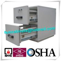China Steel Fireproof Waterproof File Cabinet Two Drawer Lockable 2 Hours Fire Rating wholesale