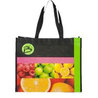 China Folding Laminated Non Woven Bag Cute Reusable Promotional Grocery Tote Bags on sale