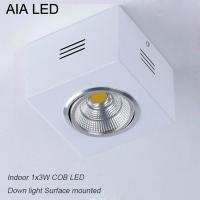China IP42 white square indoor COB 3W Ceiling down light&LED Grille light wholesale