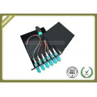 China MPO - LC Cold - Roll Steel Fiber Optic Distribution Box 50 / 125 OM3 Load With Patch Panel wholesale
