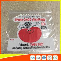 China Clear PE Custom Printed Zipper Bags Resealable Poly Bag With Customer Design wholesale