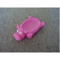 China Vinyl Hippo Rubber Bath Toys Plastic Soap Holder / Dish For Bathroom Decoration wholesale
