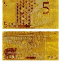China 5 Euro Gold Banknotes Gold Plated European Bill for Collection wholesale