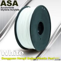 China White ASA Filament / Anti Ultraviolet 1.75mm Filament For 3D Printer wholesale