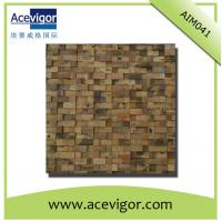 Quality Mosaic decoration in rustic antique wood for indoor wall for sale