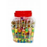 Quality Colorful and Sweet Multi Fruit Flavor Roll Healthy Hard Candy in Jars for sale
