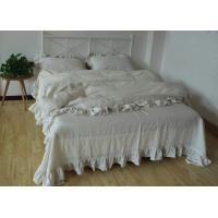 China 100% Linen Plain Duvet Covers , Comfortable 4Pcs Dyed Soft Duvet Covers wholesale
