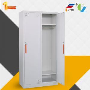 China Popular design long using time for staff  2 door locker cabinet steel storage locker on sale